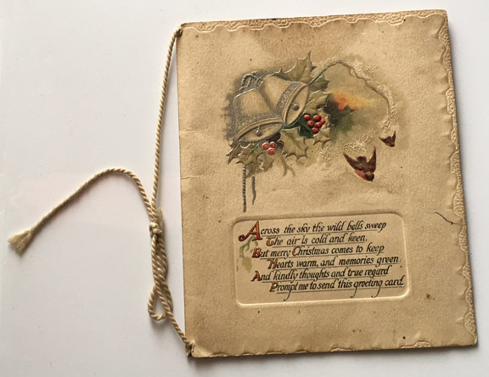 A 100-year-old Christmas greeting